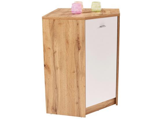 Komoda 4-you New Yuk10 - farby dubu/biela, Moderný, kompozitné drevo (60,9/85,4/60,9cm)