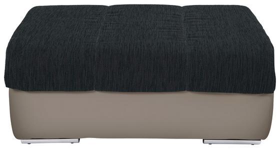 Taburet Multi - černá/pískové barvy, Moderní, textil (100/43/80cm)
