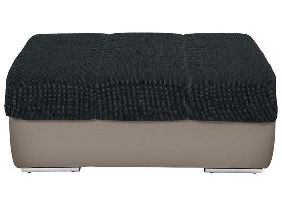 Taburet Multi - čierna/piesková, Moderný, textil (100/43/80cm)