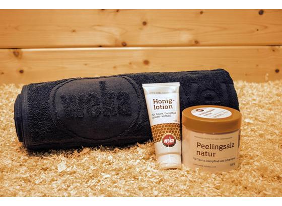 """Saunazubehör Geschenkset """"verwöhn Dich"""" - Weiß/Grau, MODERN, Kunststoff/Textil (70/180cm)"""