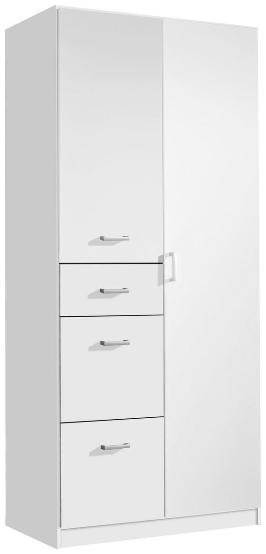 Jugend-kombischrank Point 91 cm Weiß - Weiß, MODERN, Holzwerkstoff (91/197/54cm)
