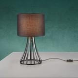 Stolová Lampa Margareta - čierna, Moderný, kov/textil (25/44cm) - Modern Living