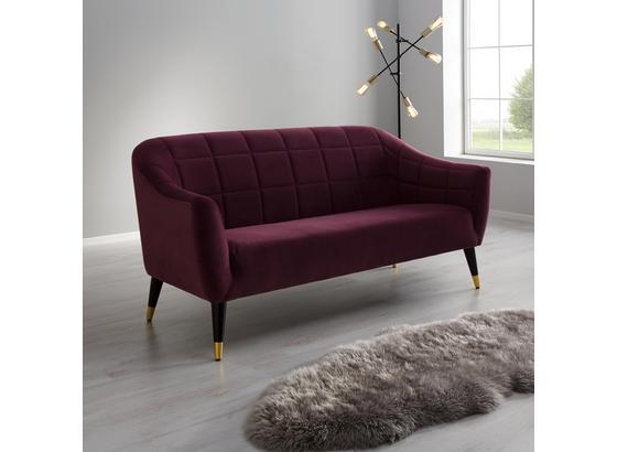Pohovka Florentina - bobuľová, Moderný, drevo/textil (170/84/73cm) - Modern Living