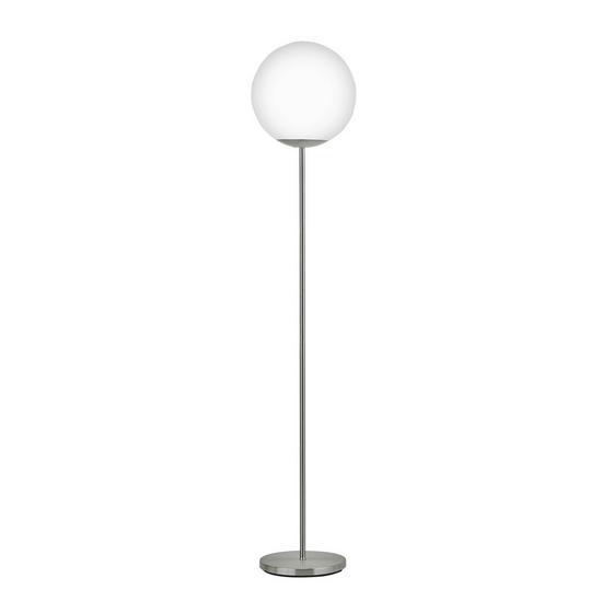 Stehleuchte Piedale - Weiß, MODERN, Glas/Metall (30/105,5cm)