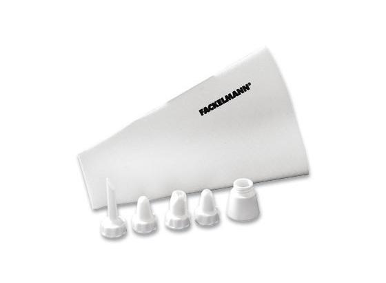 Spritzbeutel Profi - Weiß, KONVENTIONELL, Naturmaterialien/Kunststoff (31cm) - Fackelmann