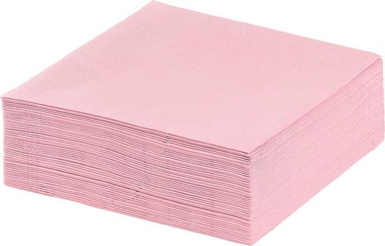 Serviette Genoveva - Rosa, KONVENTIONELL, Papier (33/33cm) - Luca Bessoni