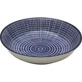 Schale Ornament DM/H: 9,5/2 cm - Blau, KONVENTIONELL, Keramik (9,5/2cm)