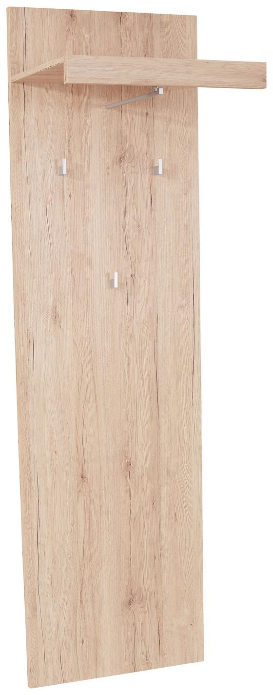 Garderobenpaneel Malta - Eichefarben, MODERN, Holzwerkstoff (50/195,4/28,2cm)