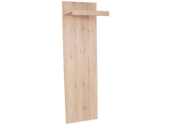 ŠATNÍ PANEL MALTA - barvy dubu, Moderní, kompozitní dřevo (50/195,4/28,2cm)