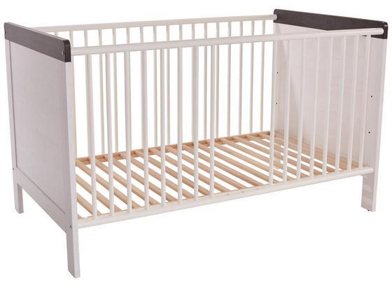 Dětská Postýlka Provence - bílá/barvy dubu, Konvenční, kompozitní dřevo (76/83,5/145,4cm)