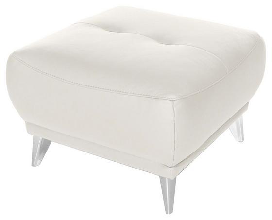 Hocker Frisco - Chromfarben/Weiß, MODERN, Textil (65/46/65cm)
