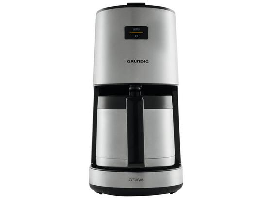 Filterkaffeemaschine Km 8680 - Schwarz/Grau, MODERN, Kunststoff/Metall (15,8/36,5/26,3cm) - Grundig