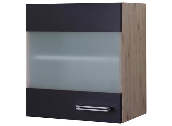 Kuchyňská Horní Skříňka Milano - barvy dubu/antracitová, Moderní, kompozitní dřevo (50/54/32cm)