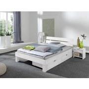 Bettkastenset Julia 2-teilig Buche Massiv - Buchefarben/Weiß, Design, Holz (81/90/21cm)