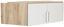 Nástavec Na Skříň Ke 2 Dv.rohové Skříni  Wien - bílá/barvy dubu, Konvenční, kompozitní dřevo (120/39/54cm)
