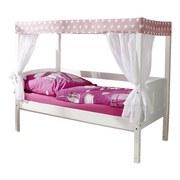 Himmelbett Echtholz Massiv 80x160 Lino Mini, Rosa/Weiß - Rosa/Weiß, MODERN, Holz (80/160cm) - MID.YOU