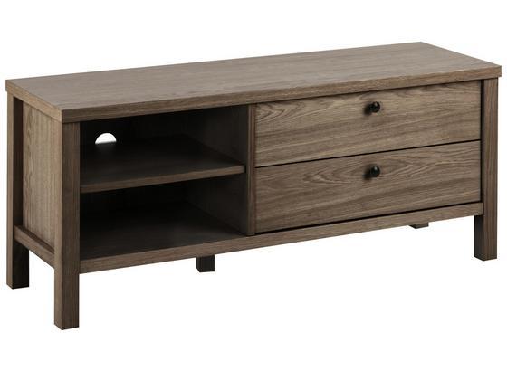 TV-Element Brentwood B: 120cm Dunkelbraun - Dunkelbraun, KONVENTIONELL, Holz/Metall (120/50/37cm) - Carryhome