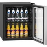 Getränkekühler Ksg 237.1 Schwarz 43cm A+ 48l - Silberfarben/Schwarz, Basics, Glas/Kunststoff (43/51/47,5cm) - Bomann
