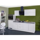 Küchenleerblock Lucca 270cm Weiß - Weiß, MODERN, Holzwerkstoff (270cm) - MID.YOU