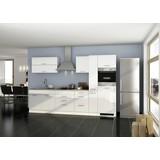 Küchenblock Mailand B: 320 cm Weiß - Eichefarben/Weiß, Basics, Holzwerkstoff (320cm) - MID.YOU