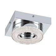 LED-Deckenleuchte Fradelo - Chromfarben/Klar, MODERN, Glas/Kunststoff (14/14/6cm)