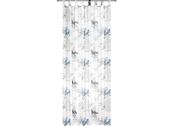 Záves S Pútkami Romana - tyrkysová, Romantický / Vidiecky, textil (140/245cm) - Mömax modern living