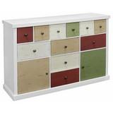 Kommode 120cm Weiß/front Bunt/ Mdf - Multicolor/Weiß, MODERN, Holzwerkstoff (120/77/34cm)