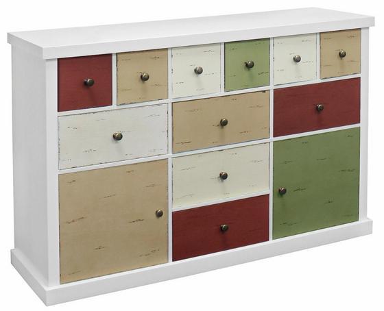 Komoda Mailand - bílá/Multicolor, Moderní, dřevěný materiál (120/77/34cm)