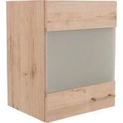 Küchenoberschrank Riva B: 50 cm Eiche Dekor - Eichefarben, MODERN, Glas/Holzwerkstoff (50/54/32cm)