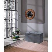 Sitzbank Velvet B: 70 cm Grau - Grau, MODERN, Holzwerkstoff/Textil (70/38/38cm)