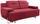 Schlafsofa Memphis - Chromfarben/Rot, MODERN, Textil (222/83/90cm)