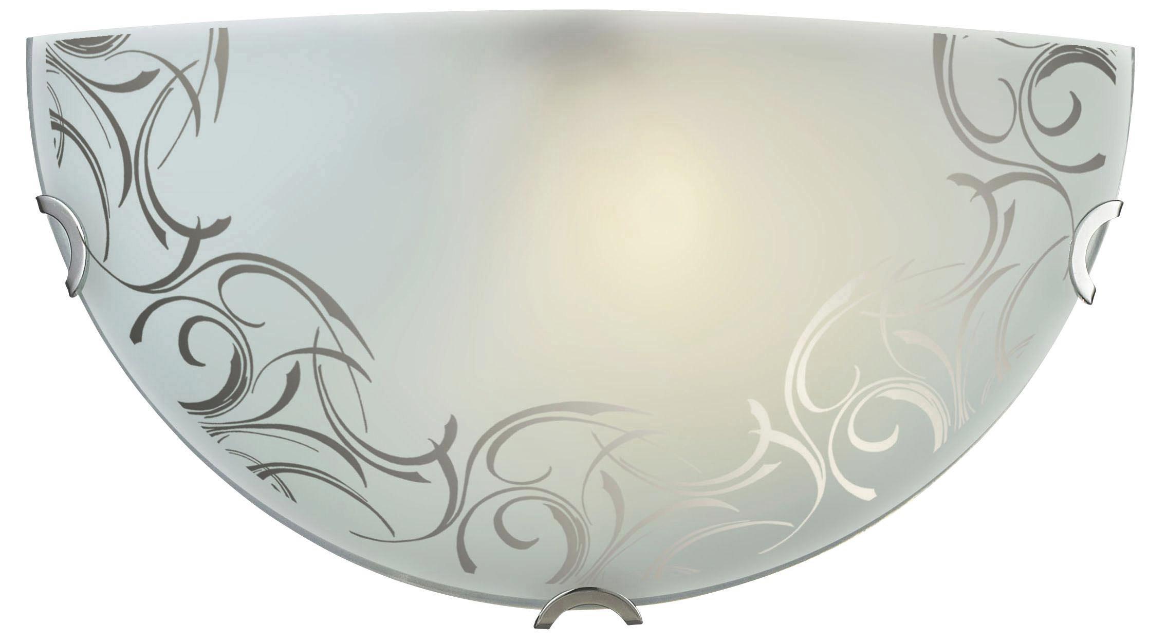 Svjetiljka Zidna Flower Power - Konvencionalno, staklo/metal (30/15cm)