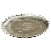 Dekoteller Ø 22 cm - Silberfarben, MODERN, Metall