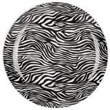 Dessertteller Afrika - Schwarz/Weiß, MODERN, Keramik (20,3cm) - Luca Bessoni