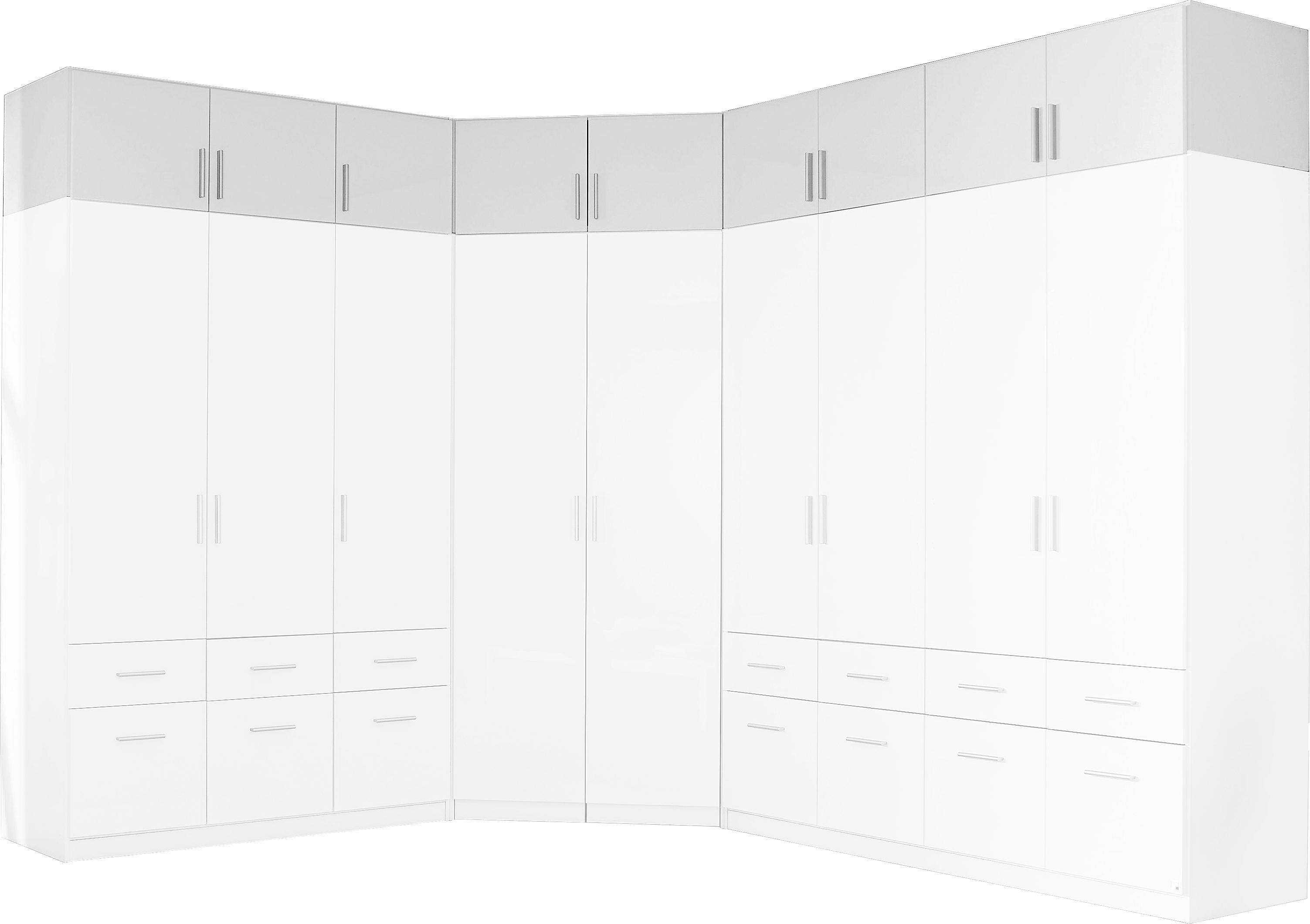 Szekrényrátét 4 Ajtós Celle Szekrényhez - fehér, modern, fa (181/40/54cm)