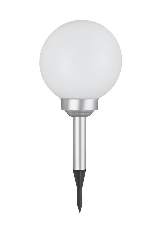 Solárne Svietidlo Adrian - biela/strieborná, umelá hmota (20 66 cm) - Mömax modern living