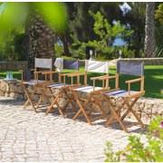 Zahradní Židle Lucas - barva teak/přírodní barvy, Moderní, kov/dřevo (54/83/40cm) - MODERN LIVING