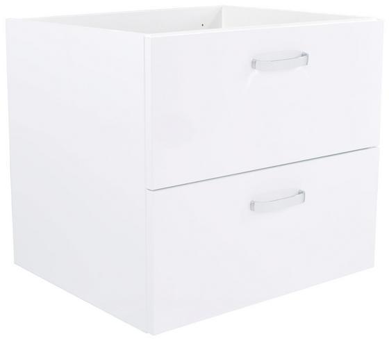Waschbeckenunterschrank Tress I - Platinfarben/Weiß, KONVENTIONELL, Holzwerkstoff (60/50/45,5cm)