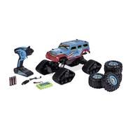 Spielzeugauto 1:10 Track Racer - Blau/Multicolor, Basics, Kunststoff (27/49/23,5cm)