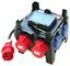 Stromverteiler Imst Ip44 2xcee/5xschuko - Blau/Rot, KONVENTIONELL, Kunststoff (19,7/20/19,7cm) - PCE