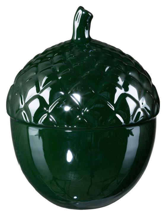 Dekofrucht H: 12 cm, Grün - Dunkelgrün, MODERN, Keramik (9/9/12cm)