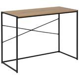 Schreibtisch B 100cm H 75cm Seaford, Wildeiche Dekor - Eichefarben/Schwarz, Trend, Holzwerkstoff/Metall (45/100/75cm) - Carryhome