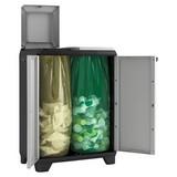 Müllsackständer Split Premium ca. 68/92/39cm - Hellgrau/Schwarz, KONVENTIONELL, Kunststoff (68cm) - Keter