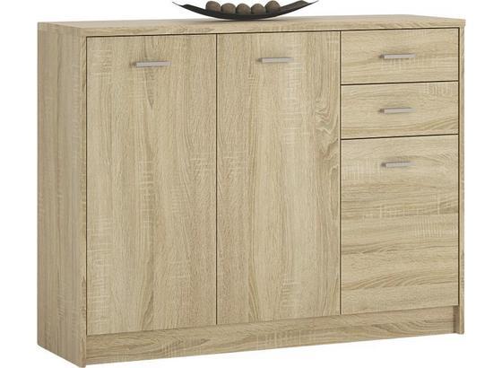 Kommode 4-You YUK05 B:109cm Sonoma Eiche Dekor - Sonoma Eiche, MODERN, Holzwerkstoff (109,1/85,4/35,2cm)