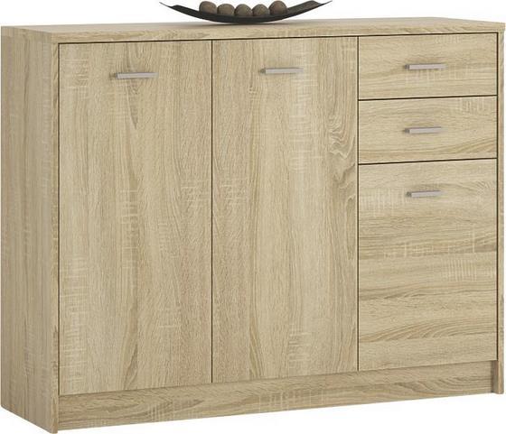 Komoda 4-you Yuk05 - dub sonoma, Moderný, drevený materiál (109,1/85,4/35,2cm)