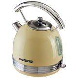 Wasserkocher Sl W2 Sc Creme 1,7l 1850-2200 W - Chromfarben/Creme, MODERN, Metall (19,8/27,3/23,7cm) - Schneider