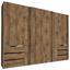 Schwebetürenschrank mit Laden 300cm Level 36a, Eiche Dekor - Eichefarben, MODERN, Holzwerkstoff (300/216/65cm)