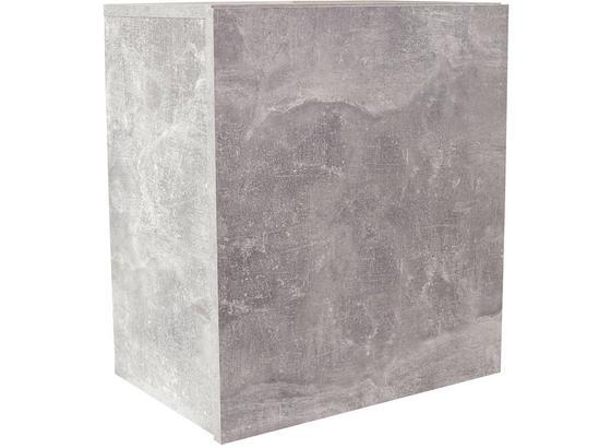 Regál Nástěnný Geno Ger01 - šedá, Moderní, kompozitní dřevo (50/51/28cm)
