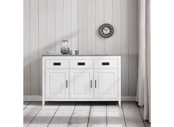 Komoda Liana - šedá/bílá, Moderní, kov/dřevo (120/80,5/40cm) - Mömax modern living