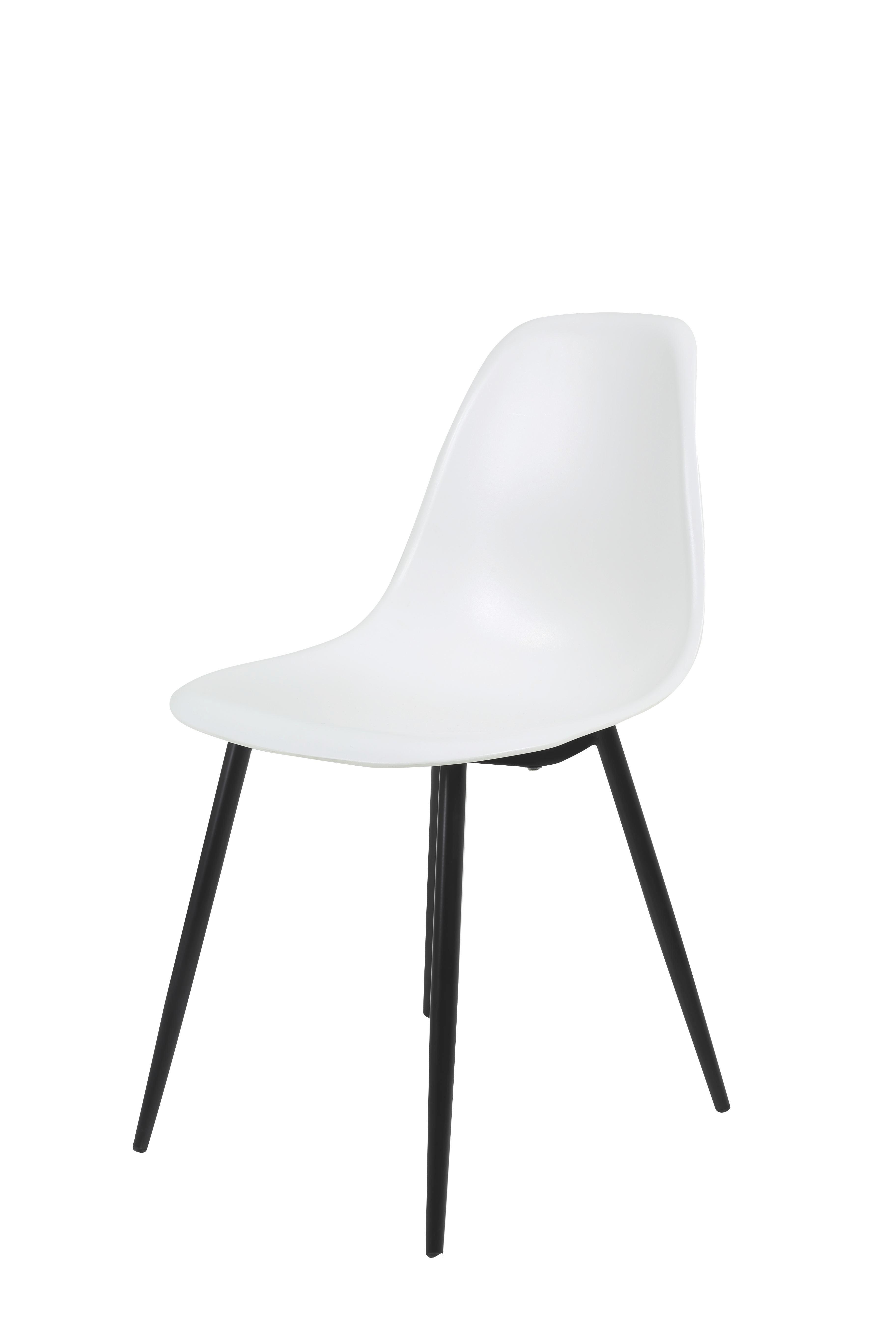 Židle Funny S - bílá/antracitová, kov/umělá hmota (47/82/51cm)